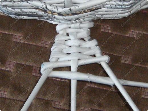 Мастер-класс Плетение: Гитара-кашпо из газет. МК. Бумага газетная. Фото 15