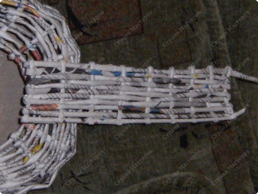 Мастер-класс Плетение: Гитара-кашпо из газет. МК. Бумага газетная. Фото 17
