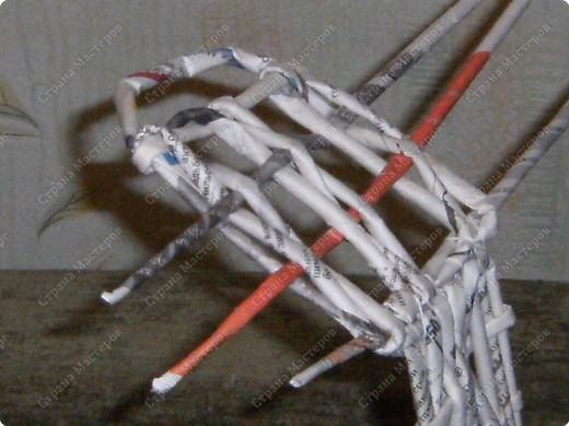 Мастер-класс Плетение: Гитара-кашпо из газет. МК. Бумага газетная. Фото 21