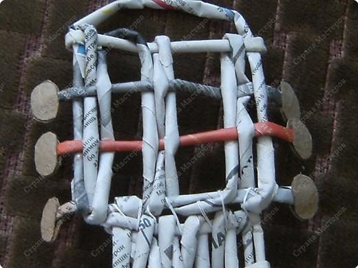 Мастер-класс Плетение: Гитара-кашпо из газет. МК. Бумага газетная. Фото 22