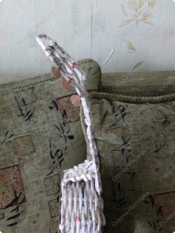 Мастер-класс Плетение: Гитара-кашпо из газет. МК. Бумага газетная. Фото 23