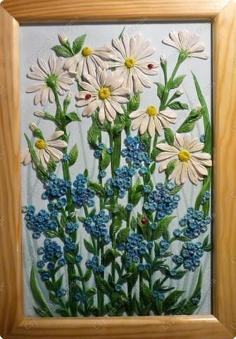 Мастер-класс Лепка: Луговые цветы Тесто соленое. Фото 1