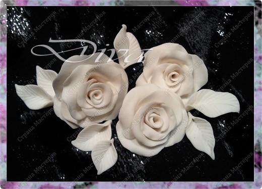 Просмотрела много работ мастеров, разные есть розы...... хочу поделиться как я делаю свои. Фото 1