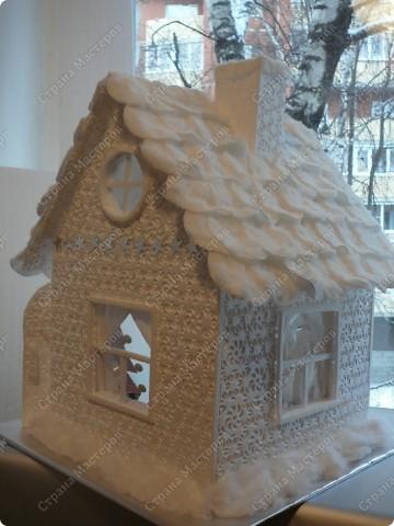 Как сделать новогодний домик своими руками мастер класс