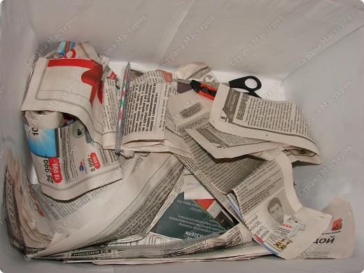 Мастер-класс,  : Сундучок для швейных принадлежностей Бумага газетная . Фото 4