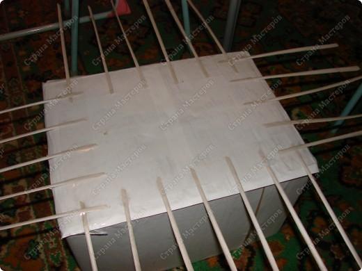 Мастер-класс,  : Сундучок для швейных принадлежностей Бумага газетная . Фото 8