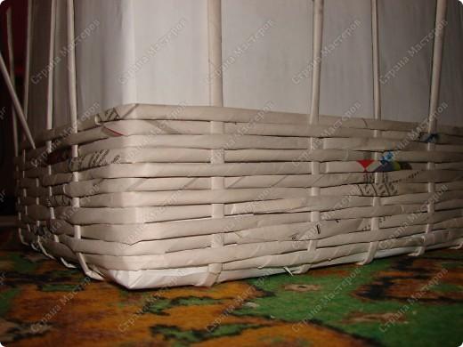 Мастер-класс,  : Сундучок для швейных принадлежностей Бумага газетная . Фото 9