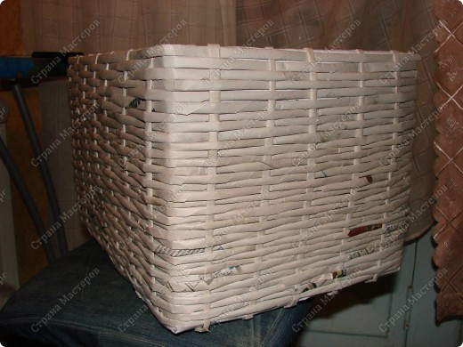 Мастер-класс,  : Сундучок для швейных принадлежностей Бумага газетная . Фото 10