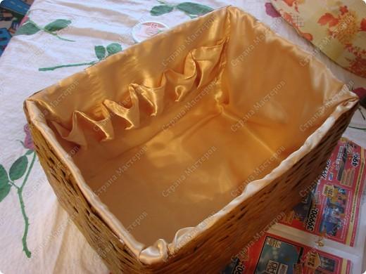 Мастер-класс,  : Сундучок для швейных принадлежностей Бумага газетная . Фото 13