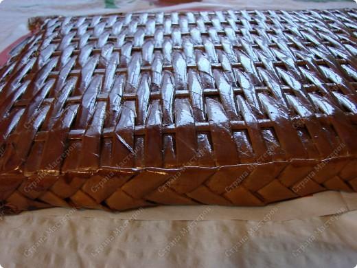 Мастер-класс,  : Сундучок для швейных принадлежностей Бумага газетная . Фото 14