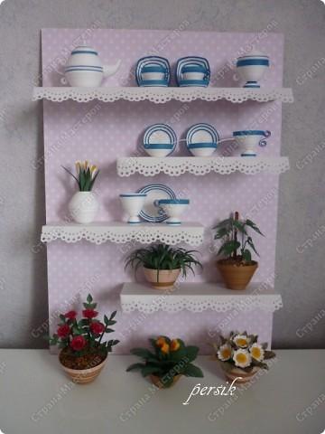 Картина, панно,  Квиллинг, : Квиллинг. Посуда. Полосы бумажные . Фото 1