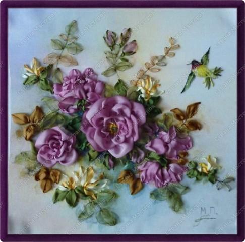 Для роз шелковые ленты