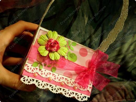 Скрапбукинг, Упаковка,  Ассамбляж, : Подарочная коробочка Бумага 8 марта, День рождения, . Фото 3