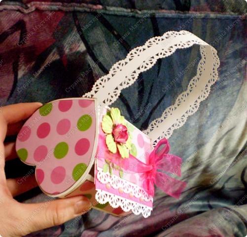 Скрапбукинг, Упаковка,  Ассамбляж, : Подарочная коробочка Бумага 8 марта, День рождения, . Фото 4