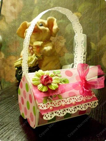 Скрапбукинг, Упаковка,  Ассамбляж, : Подарочная коробочка Бумага 8 марта, День рождения, . Фото 1