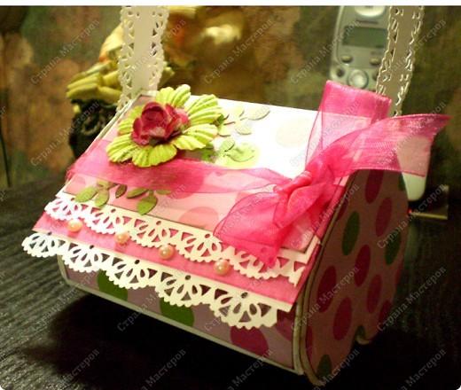 Скрапбукинг, Упаковка,  Ассамбляж, : Подарочная коробочка Бумага 8 марта, День рождения, . Фото 2