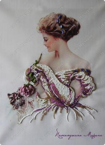 Картина, панно Вышивка: Элизабет Бисер, Ленты. Фото 2
