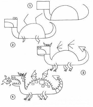Рисуем голову дракона Как