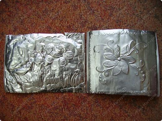 Поделка, изделие Чеканка: Чеканим на формах от кексов Фольга. Фото 10