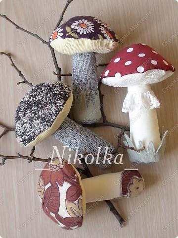 Объемный гриб своими руками