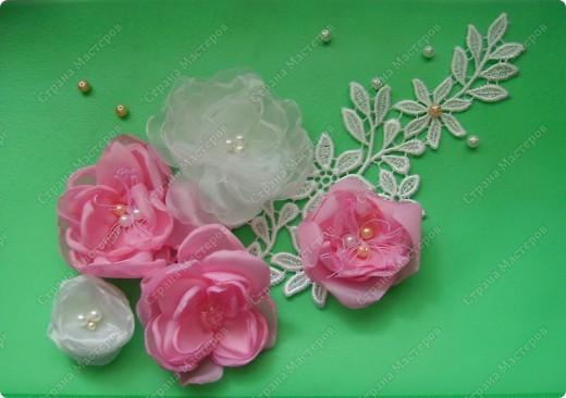 Мастер-класс: текстильные цветы МК Бусинки, Капрон, Ленты. Фото 1
