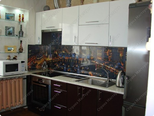 Интерьер Аппликация: Стеклянный фартук для кухни своими руками - это просто !!! Бумага. Фото 1