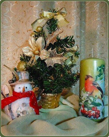 Декор предметов Декупаж: Скоро Новый год... Салфетки, Свечи Новый год. Фото 1
