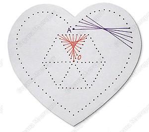Изонить схемы сердечко