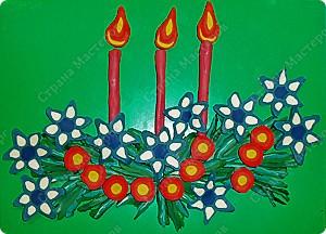 композиция еловые веточки со свечами