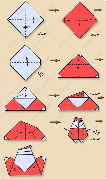 Дед мороз оригами схема из бумаги фото 358