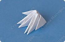 Снеговик модульное оригами