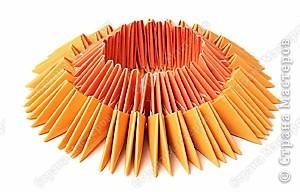 второй круг из оранжевых модулей