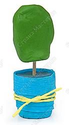 Кактус в технике торцевание на пластилине