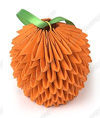 Модульное оригами апельсин схема