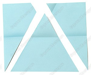 Как из бумаги сделать равносторонний треугольник из