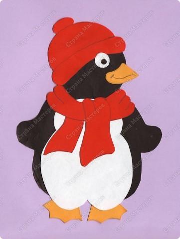 Новогодний пингвин своими руками из бумаги