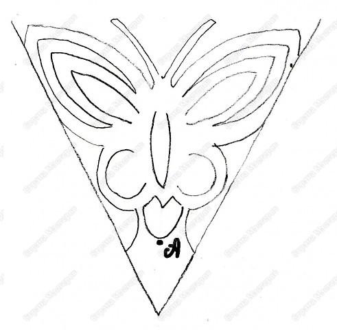 схему вырезания бабочки.