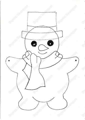 Гирлянды из снеговиков своими руками