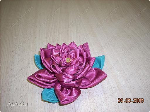 Мастер-класс Шитьё: Цветы из кругов ткани (мастер-класс) Бусинки, Нитки, Ткань. Фото 8