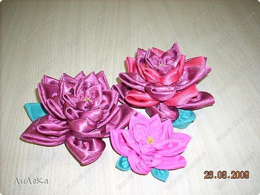 Мастер-класс,  Шитьё, : Цветы из кругов ткани (мастер-класс) Бусинки, Нитки, Ткань . Фото 1