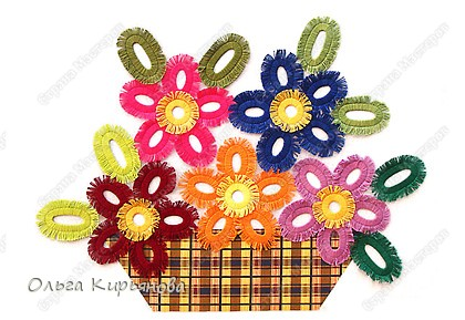 Коллективная работа, Мастер-класс Плетение: Корзина с цветами Картон, Нитки 8 марта