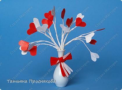 Мастер-класс,  Бумагопластика, : Букет из сердечек Бумага, Бумага гофрированная Валентинов день,