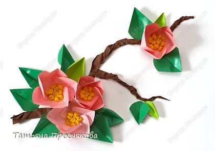 Мастер-класс Бумагопластика, Оригами: Цветы из кругов Бумага 8 марта