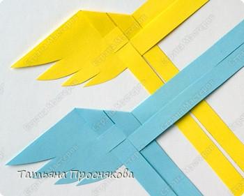 Мастер-класс, Поделка, изделие Плетение: Плетёные птички Бумага. Фото 7