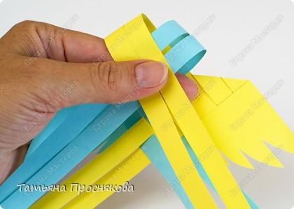 Мастер-класс, Поделка, изделие Плетение: Плетёные птички Бумага. Фото 11