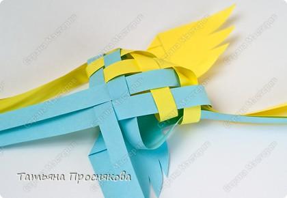 Мастер-класс, Поделка, изделие Плетение: Плетёные птички Бумага. Фото 19