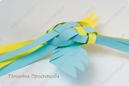 Мастер-класс, Поделка, изделие Плетение: Плетёные птички Бумага. Фото 20