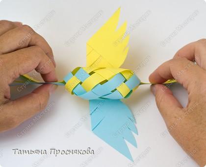 Мастер-класс, Поделка, изделие Плетение: Плетёные птички Бумага. Фото 21