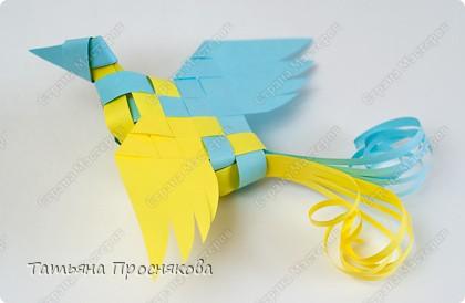 Мастер-класс, Поделка, изделие Плетение: Плетёные птички Бумага. Фото 24