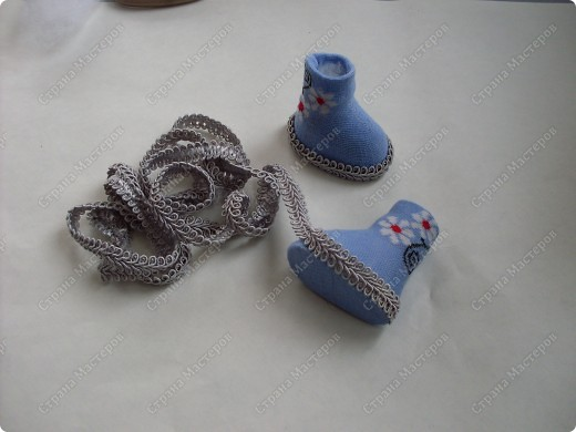 Мастер-класс,  Шитьё, : Сапожки для Снегурочки Носки . Фото 15